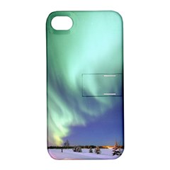 Aurora Borealis Alaska Space Apple Iphone 4/4s Hardshell Case With Stand by BangZart