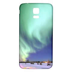 Aurora Borealis Alaska Space Samsung Galaxy S5 Back Case (white) by BangZart