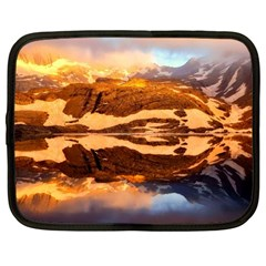 France Snow Winter Sunrise Fog Netbook Case (large) by BangZart
