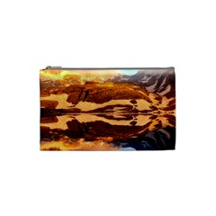France Snow Winter Sunrise Fog Cosmetic Bag (small)  by BangZart