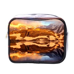 France Snow Winter Sunrise Fog Mini Toiletries Bags by BangZart