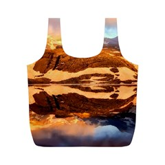 France Snow Winter Sunrise Fog Full Print Recycle Bags (m)