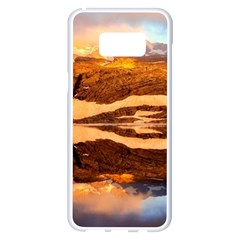 France Snow Winter Sunrise Fog Samsung Galaxy S8 Plus White Seamless Case by BangZart