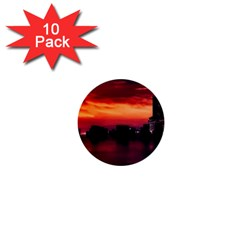 New York City Urban Skyline Harbor 1  Mini Buttons (10 Pack)
