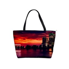 New York City Urban Skyline Harbor Shoulder Handbags