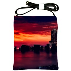 New York City Urban Skyline Harbor Shoulder Sling Bags by BangZart