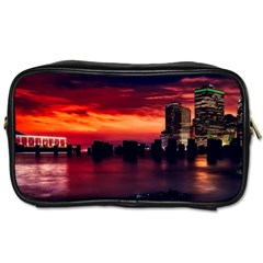 New York City Urban Skyline Harbor Toiletries Bags 2 Side by BangZart