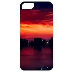 New York City Urban Skyline Harbor Apple Iphone 5 Classic Hardshell Case by BangZart
