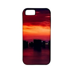New York City Urban Skyline Harbor Apple Iphone 5 Classic Hardshell Case (pc+silicone) by BangZart