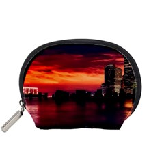 New York City Urban Skyline Harbor Accessory Pouches (small)  by BangZart