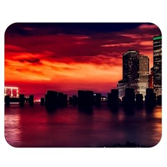 New York City Urban Skyline Harbor Double Sided Flano Blanket (medium)