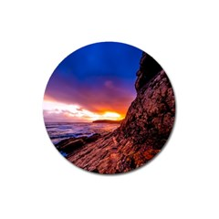 South Africa Sea Ocean Hdr Sky Magnet 3  (round) by BangZart