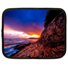 South Africa Sea Ocean Hdr Sky Netbook Case (large) by BangZart