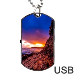 South Africa Sea Ocean Hdr Sky Dog Tag Usb Flash (one Side)