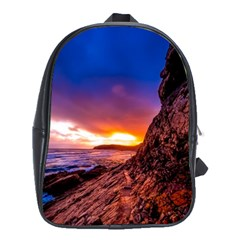 South Africa Sea Ocean Hdr Sky School Bag (xl)