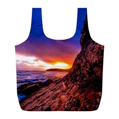 South Africa Sea Ocean Hdr Sky Full Print Recycle Bags (l)