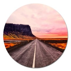 Iceland Sky Clouds Sunset Magnet 5  (round) by BangZart