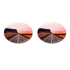 Iceland Sky Clouds Sunset Cufflinks (oval)