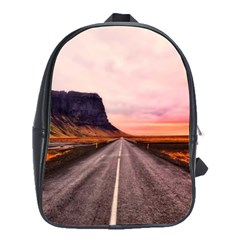 Iceland Sky Clouds Sunset School Bag (large)