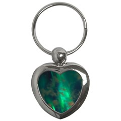 Northern Lights Plasma Sky Key Chains (heart)  by BangZart