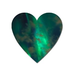 Northern Lights Plasma Sky Heart Magnet by BangZart