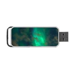 Northern Lights Plasma Sky Portable Usb Flash (two Sides)