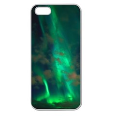 Northern Lights Plasma Sky Apple Seamless Iphone 5 Case (clear) by BangZart