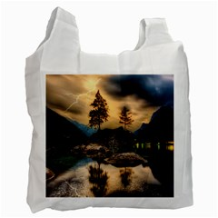 Sunset Dusk Sky Clouds Lightning Recycle Bag (two Side)  by BangZart