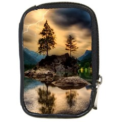Sunset Dusk Sky Clouds Lightning Compact Camera Cases