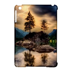 Sunset Dusk Sky Clouds Lightning Apple Ipad Mini Hardshell Case (compatible With Smart Cover)