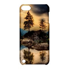Sunset Dusk Sky Clouds Lightning Apple Ipod Touch 5 Hardshell Case With Stand