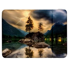 Sunset Dusk Sky Clouds Lightning Samsung Galaxy Tab 7  P1000 Flip Case by BangZart