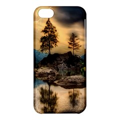 Sunset Dusk Sky Clouds Lightning Apple Iphone 5c Hardshell Case by BangZart