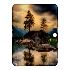 Sunset Dusk Sky Clouds Lightning Samsung Galaxy Tab 4 (10 1 ) Hardshell Case  by BangZart