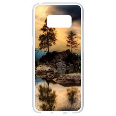 Sunset Dusk Sky Clouds Lightning Samsung Galaxy S8 White Seamless Case