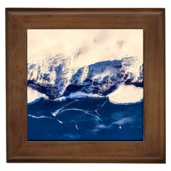 Antarctica Mountains Sunrise Snow Framed Tiles