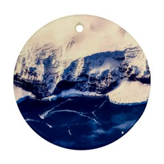 Antarctica Mountains Sunrise Snow Ornament (Round)