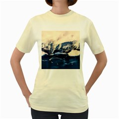 Antarctica Mountains Sunrise Snow Women s Yellow T-Shirt