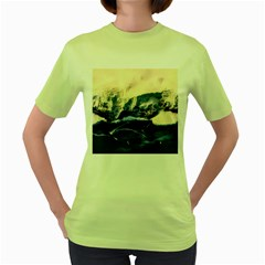 Antarctica Mountains Sunrise Snow Women s Green T-Shirt