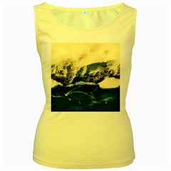 Antarctica Mountains Sunrise Snow Women s Yellow Tank Top