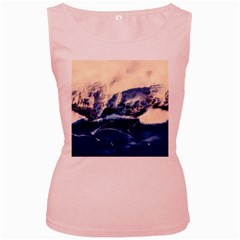 Antarctica Mountains Sunrise Snow Women s Pink Tank Top