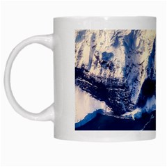 Antarctica Mountains Sunrise Snow White Mugs