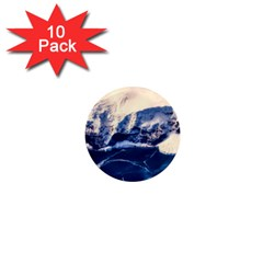 Antarctica Mountains Sunrise Snow 1  Mini Magnet (10 pack)