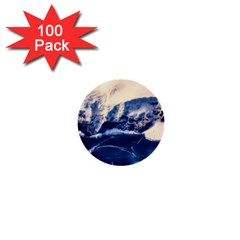 Antarctica Mountains Sunrise Snow 1  Mini Buttons (100 pack)
