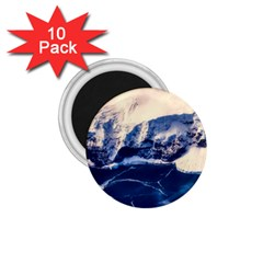 Antarctica Mountains Sunrise Snow 1.75  Magnets (10 pack)