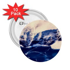 Antarctica Mountains Sunrise Snow 2.25  Buttons (10 pack)