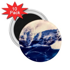 Antarctica Mountains Sunrise Snow 2.25  Magnets (10 pack)
