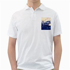 Antarctica Mountains Sunrise Snow Golf Shirts