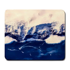 Antarctica Mountains Sunrise Snow Large Mousepads