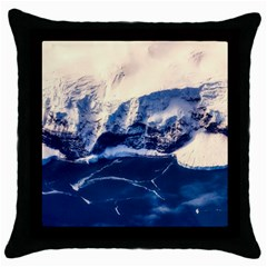 Antarctica Mountains Sunrise Snow Throw Pillow Case (Black)
